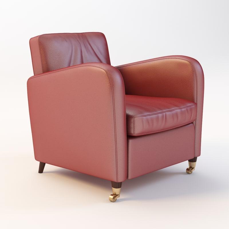 Baxter Charmine Leather Armchair