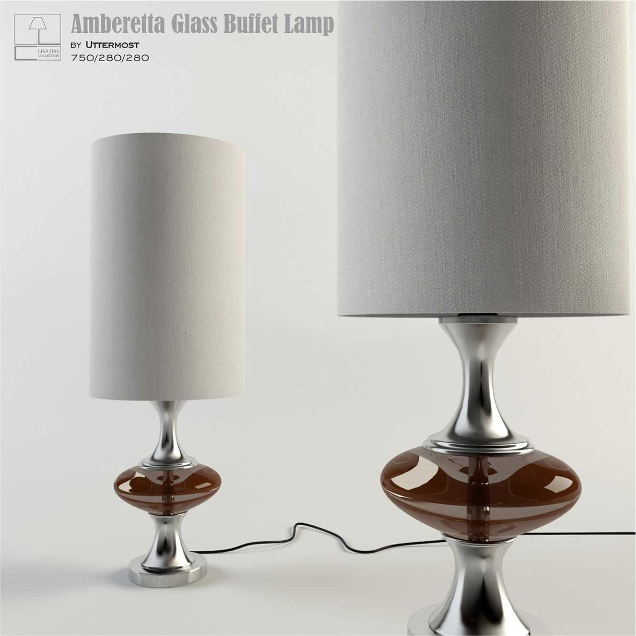 Amberetta Glass Buffet Lamp