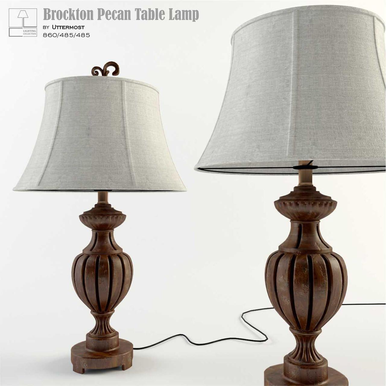 Brockton Pecan Table Lamp