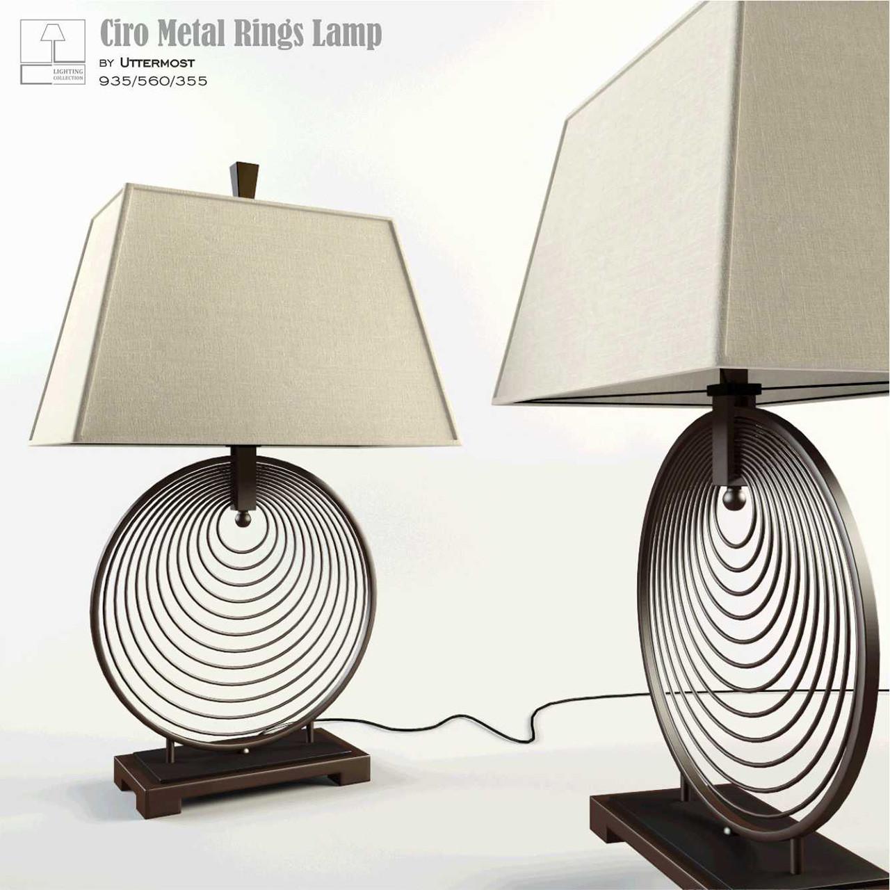 Ciro Metal Rings Lamp