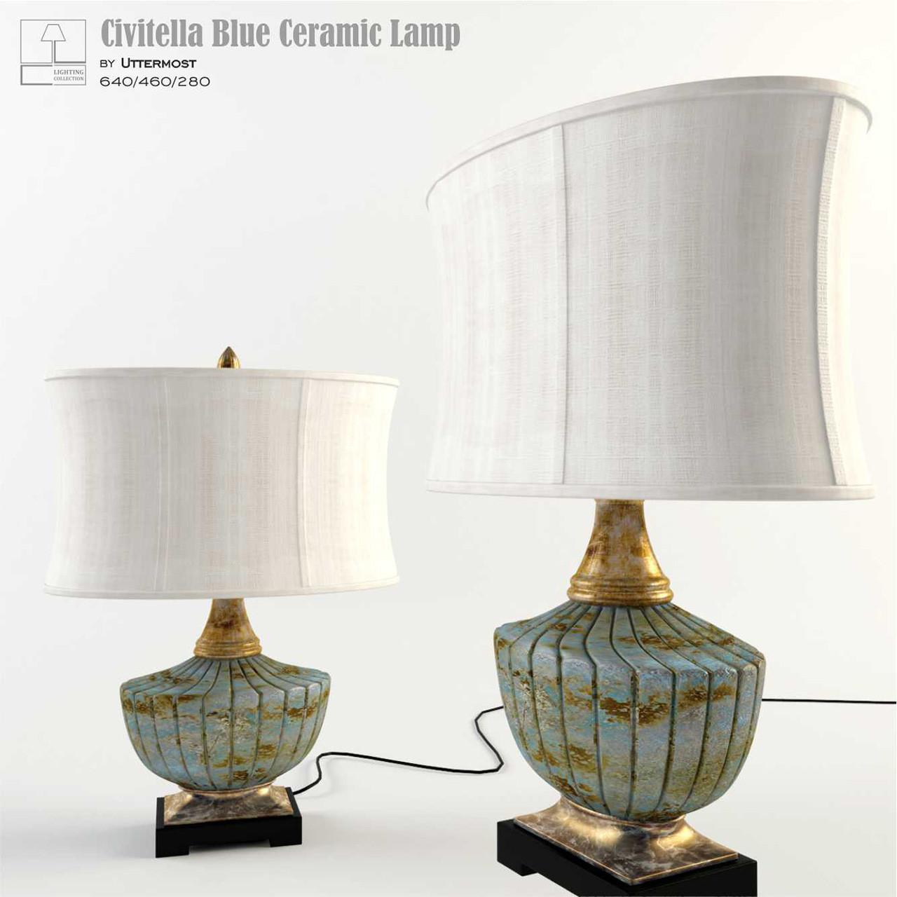Civitella Blue Ceramic Lamp