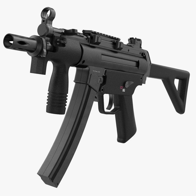 3d model of Assault Rifle Generic 00.jpg