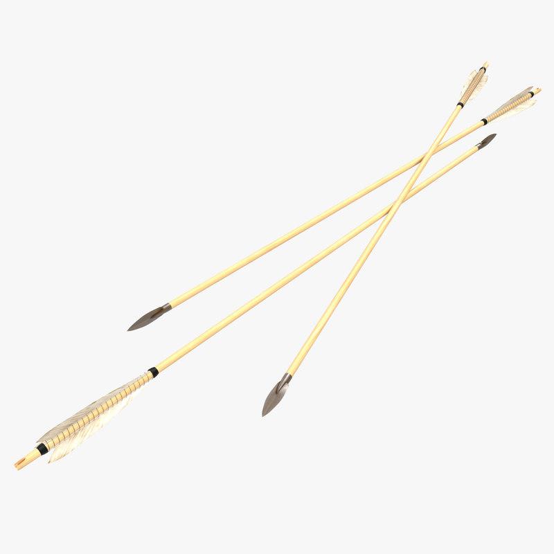 Bow Arrow 3d model 00.jpg