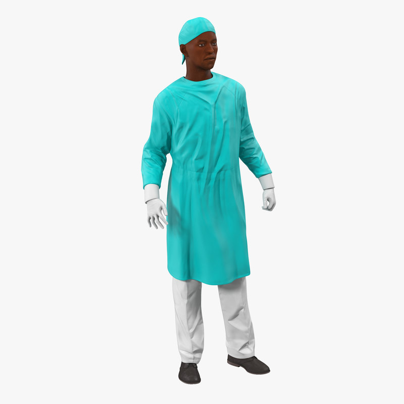 Male African American Surgeon Rigged 3d model 00.jpg