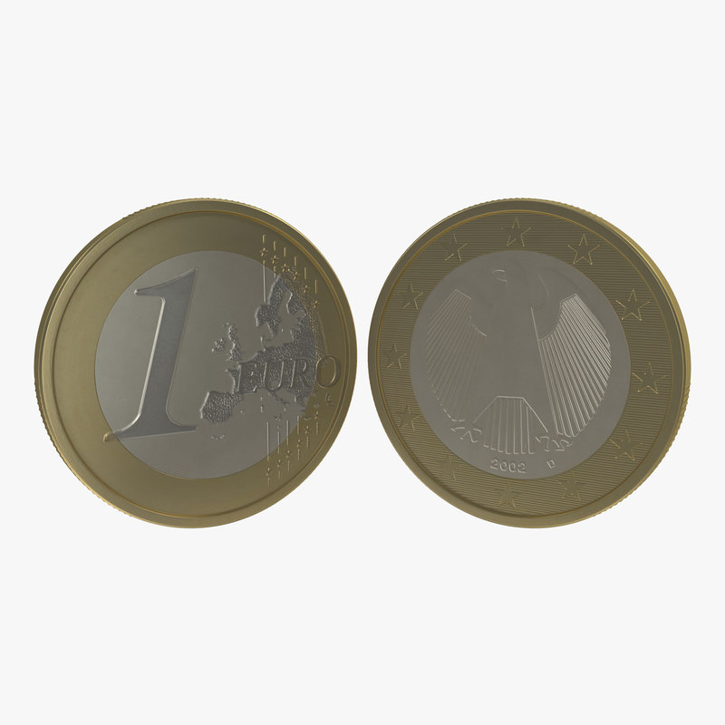 1 Euro Coin German 3d model 00.jpg