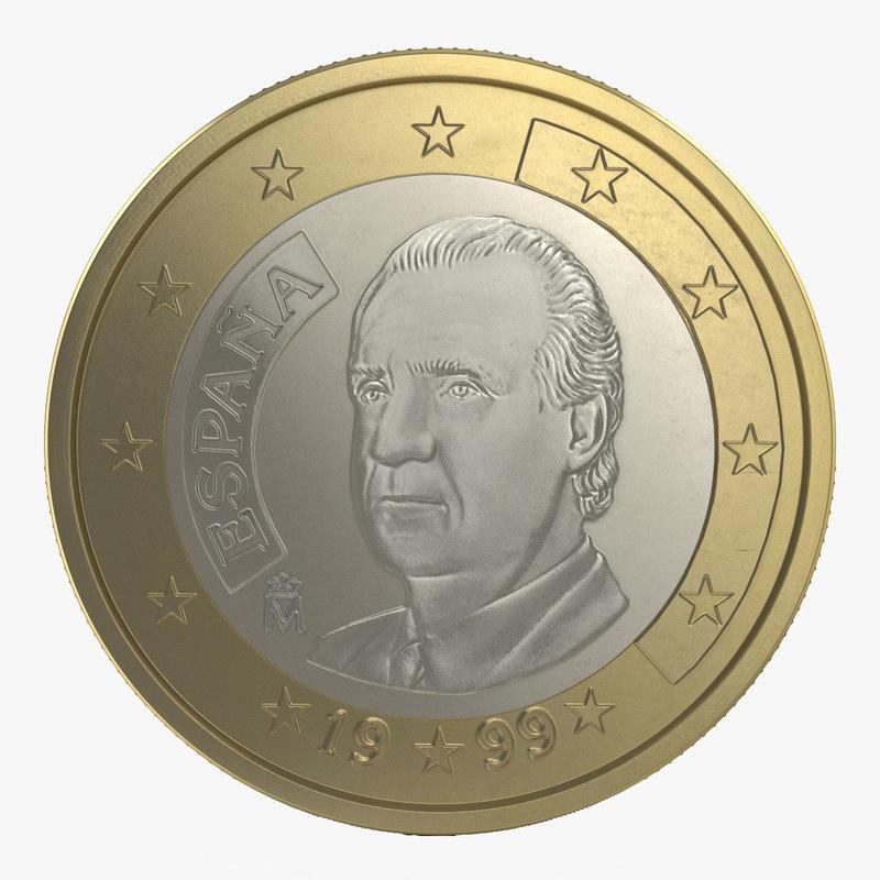 3d model of 1 Euro Coin Espana 00.jpg