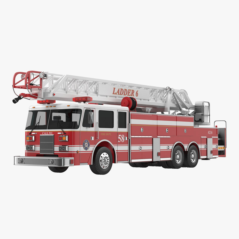 Ladder Fire Truck 3d model 00.jpg
