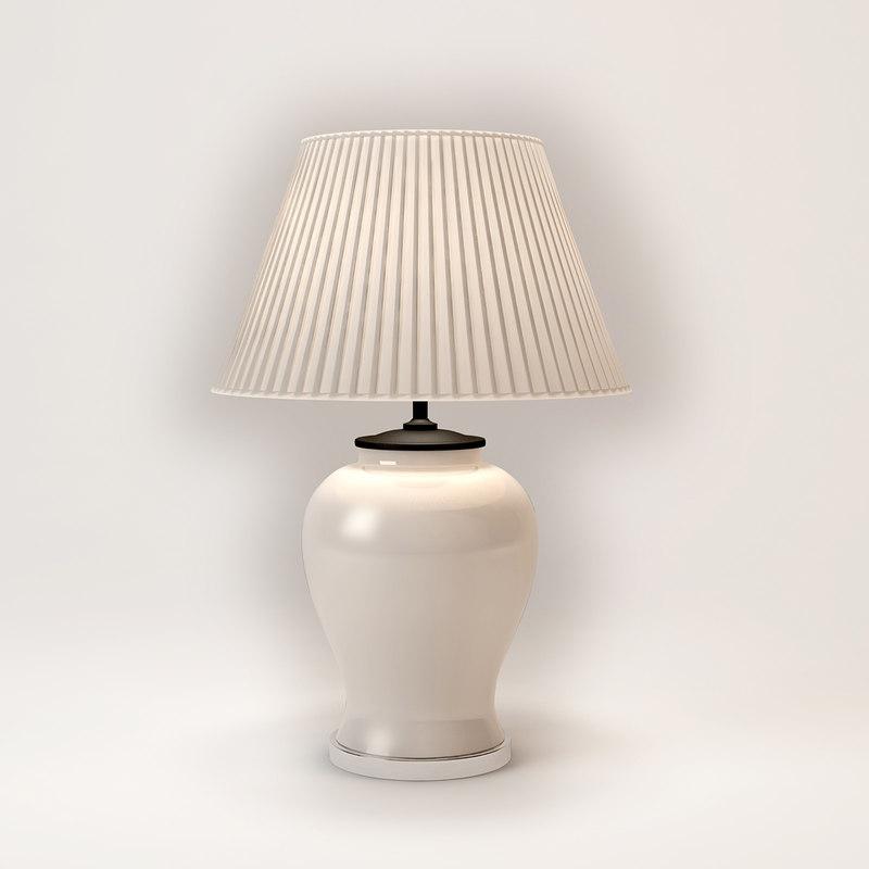 eichholtz table lamp halston 3d model