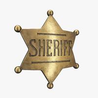 police badge 3D models