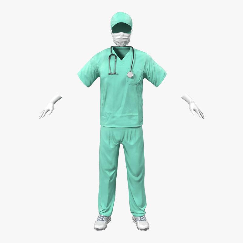 Surgeon Dress 3d model 00.jpg