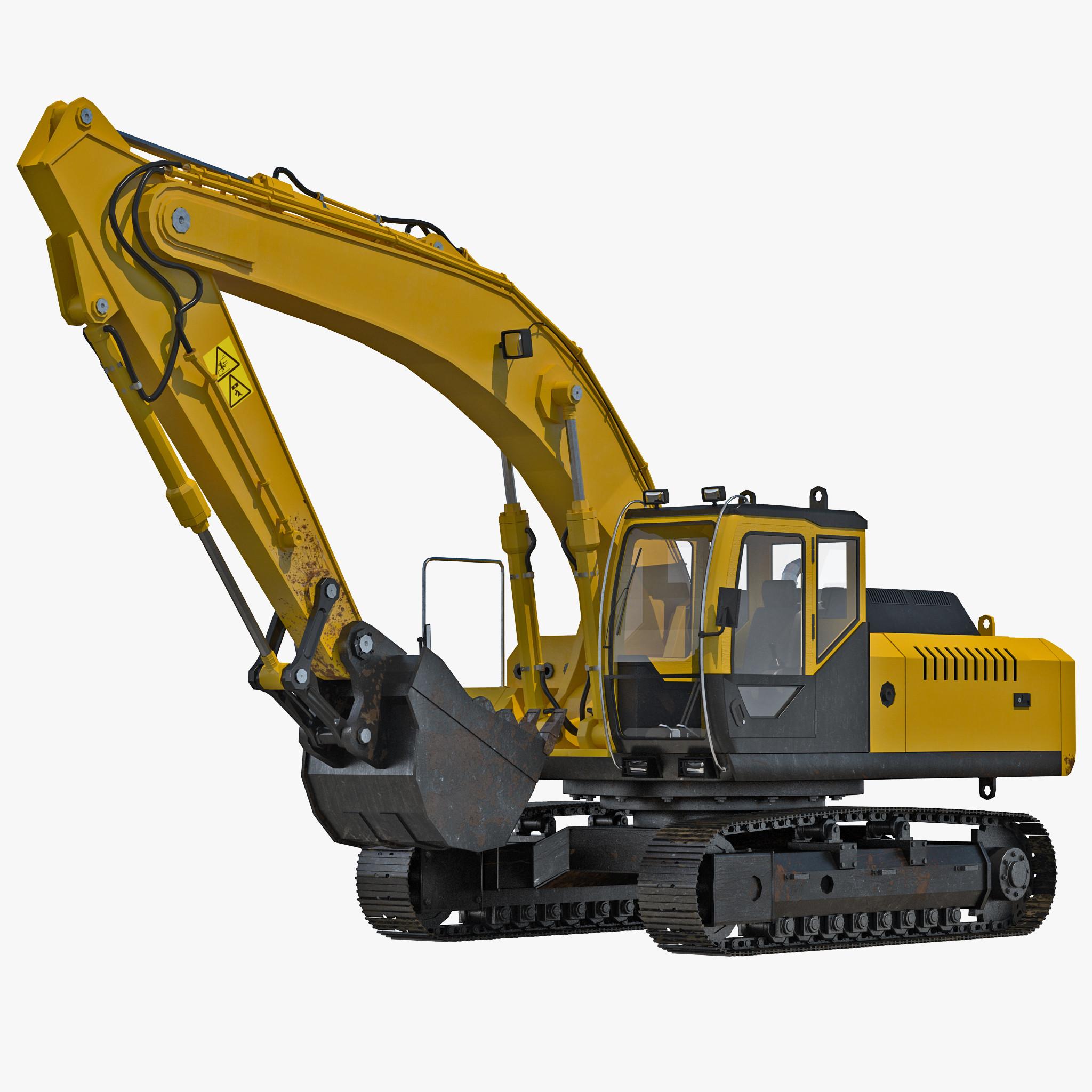Tracked Excavator 3d model 00.jpg