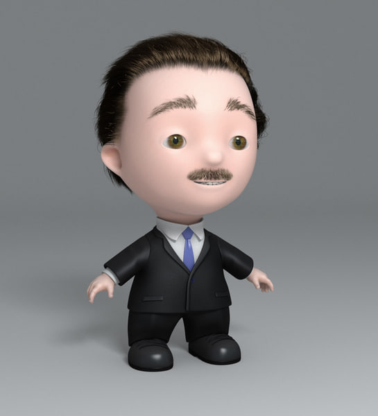 Business man - cartoon 3D Models