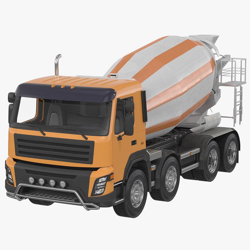 Cement Mixer Vehicle Generic 3d model 00.jpg