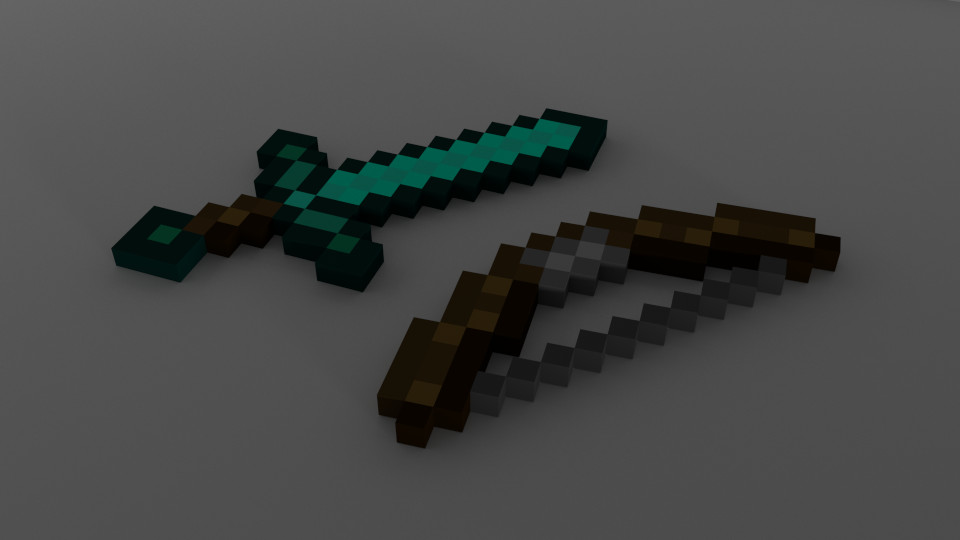 minecraft Bow and sword.png