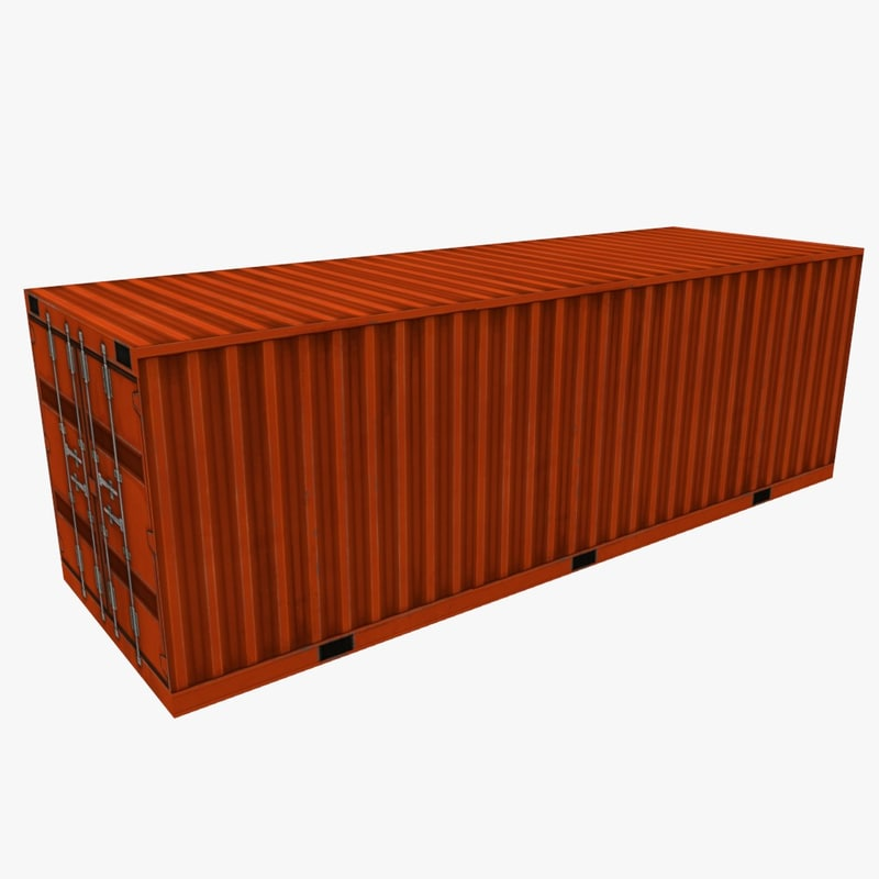 Low poly shipping containers pack