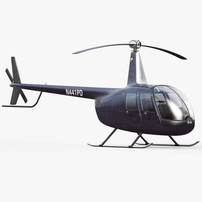 Robinson R44 Black Helicopter