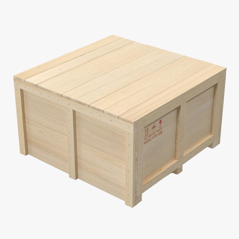 Wooden Shipping Crate 3d model 01.jpg