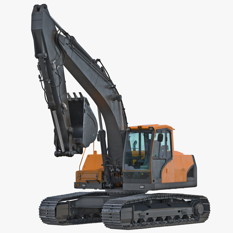 Tracked Excavator Generic Rigged 3d model 001.jpg