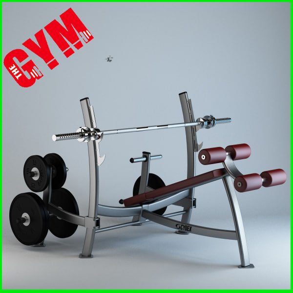 Olympic Decline Press with Weight Storage