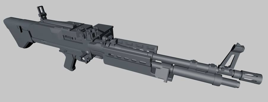 Realistic M60E4 Machine Gun (low poly)