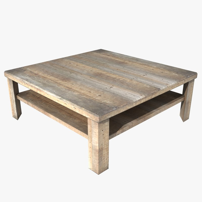 Square coffee table 3d model for Table 52 2015