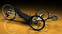 recumbent bicycle 3D models