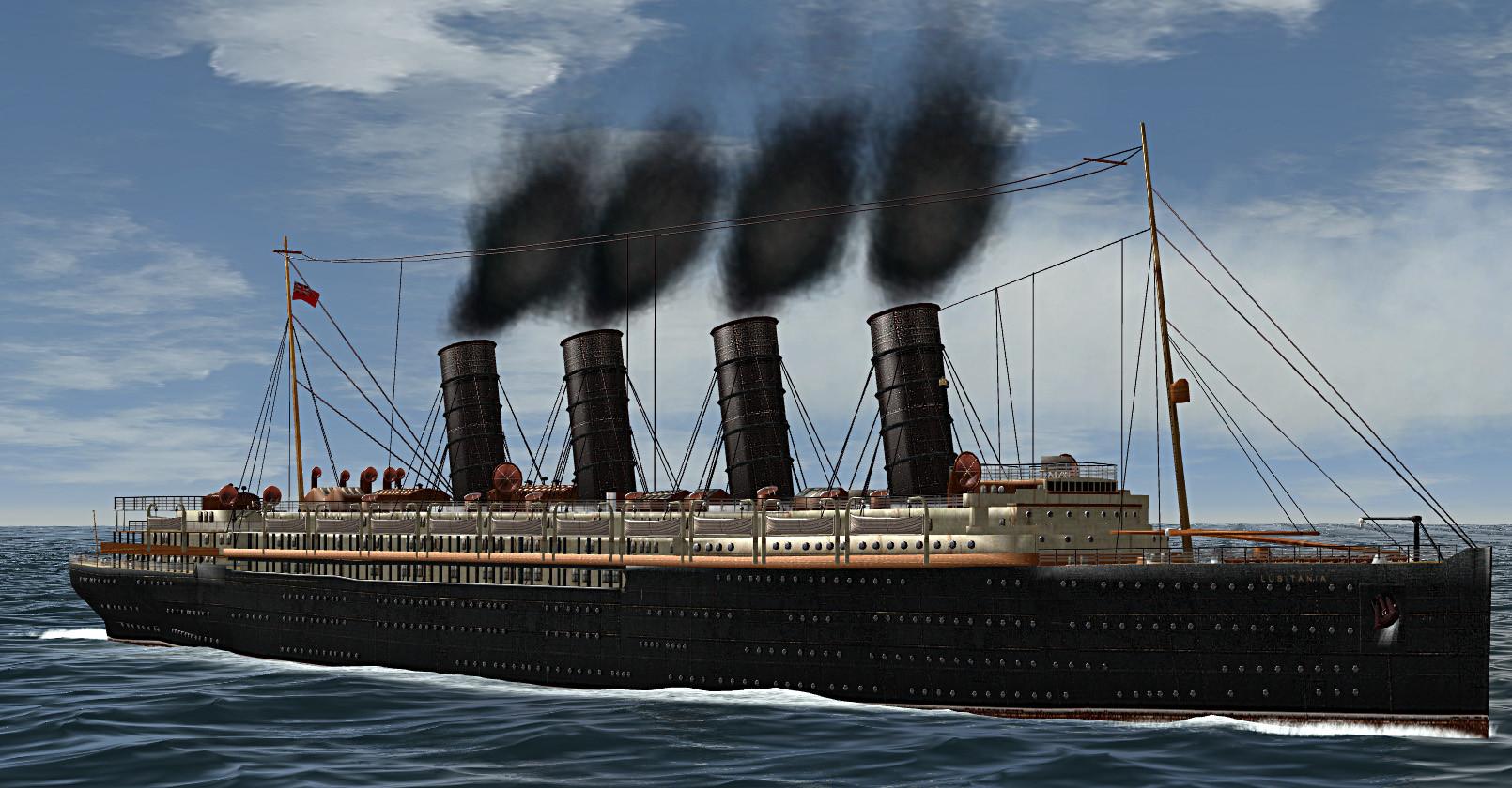 rms lusitania 3d 3ds
