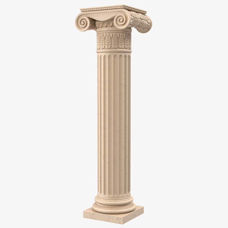 Ionic Order Column 3d model 01.jpg