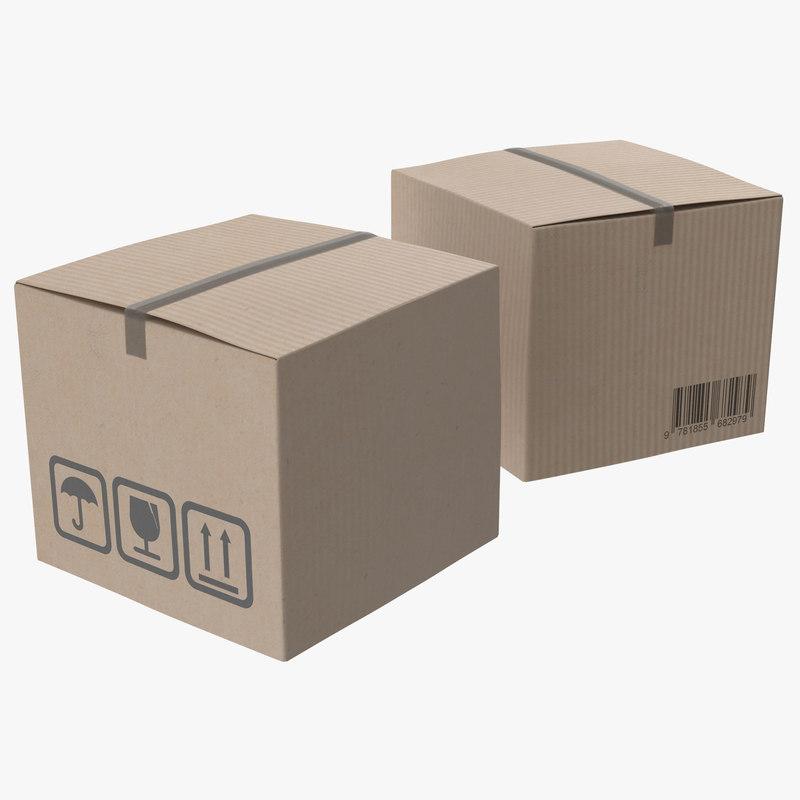 3d model of Cardboard Box 01.jpg