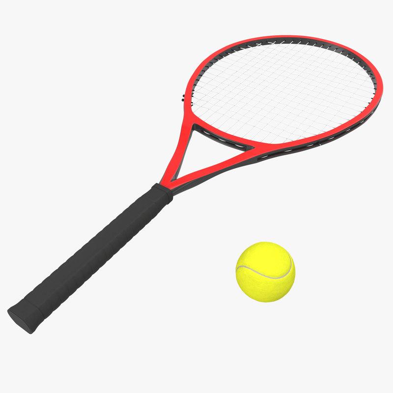 3d model of Tennis Racket and Ball 01.jpg