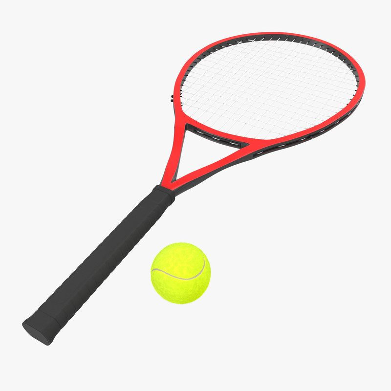 Tennis Racket and Ball with Fur