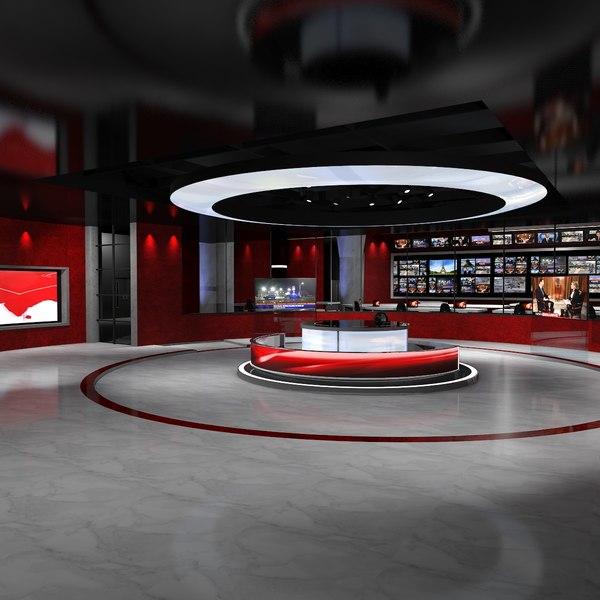 Virtual Studio News 2 3D Models