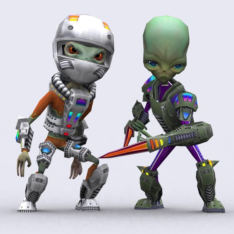 3DRT-Alienoids modular characters kit