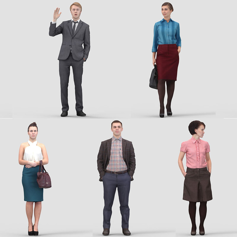 3D Human Model Vol.3 Business Standing People