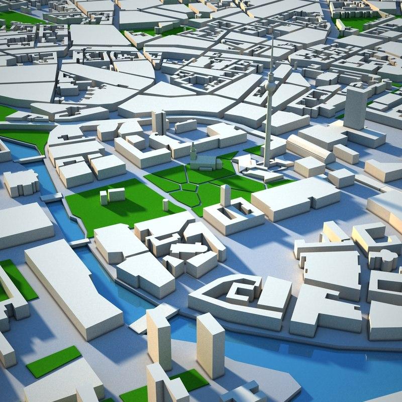 Berlin cityscape render - Mobeltown berlin ...