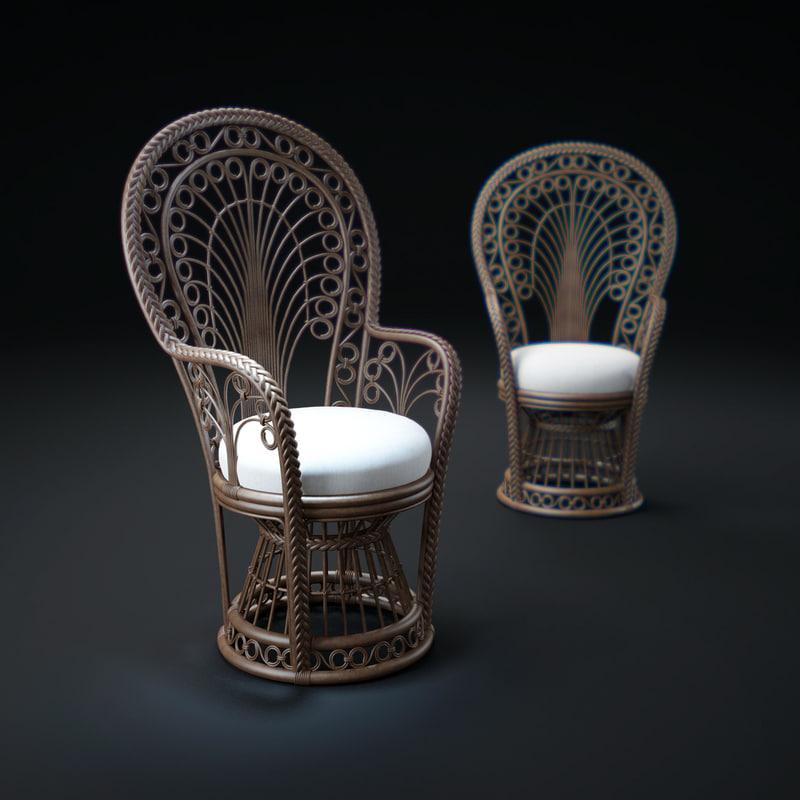 Peacock-Rattan-Fabric-Armchair