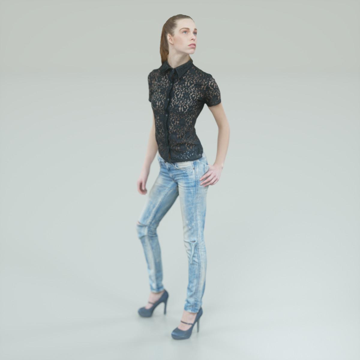 Torn Jeans Girl