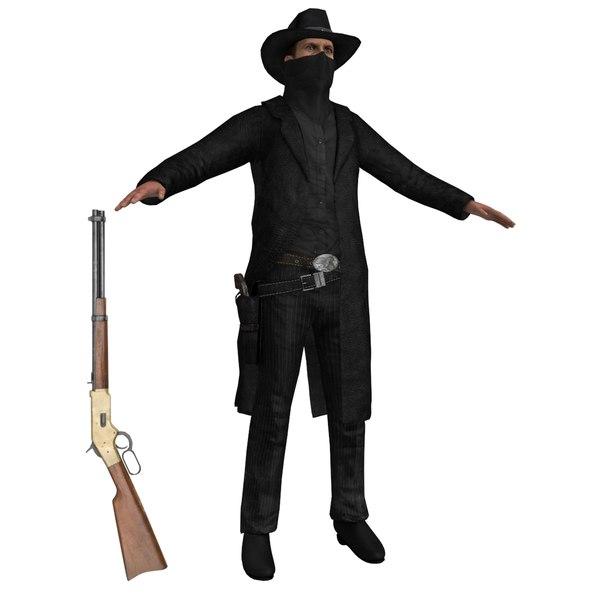Cowboy Outlaw 2 3D Models