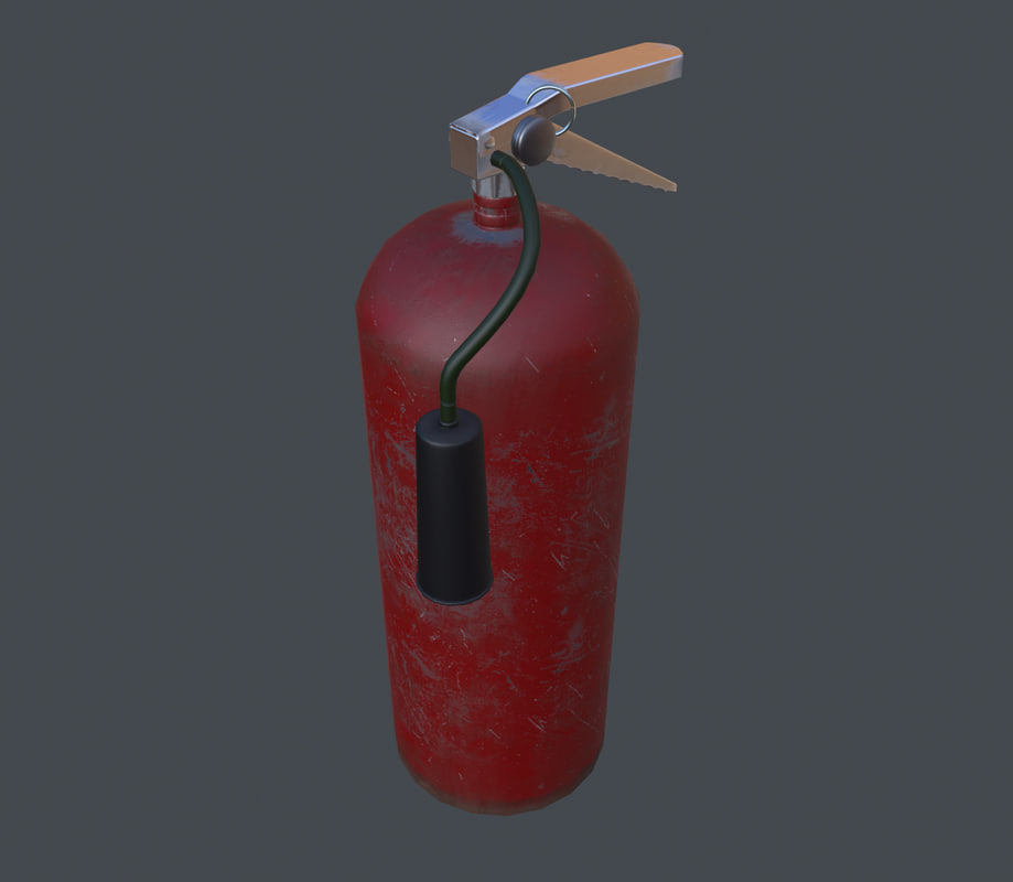 Fire Extinguisher Game Ready PBR