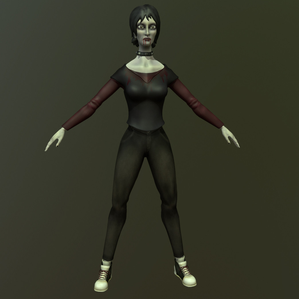 3d model vampire character
