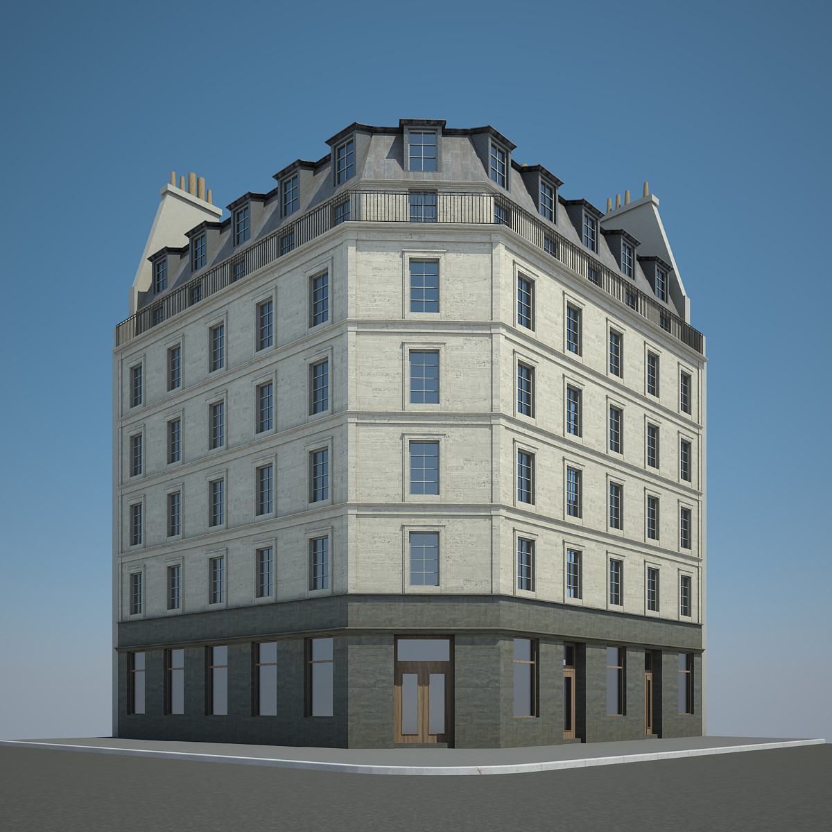 City building 3d max for 3d max building