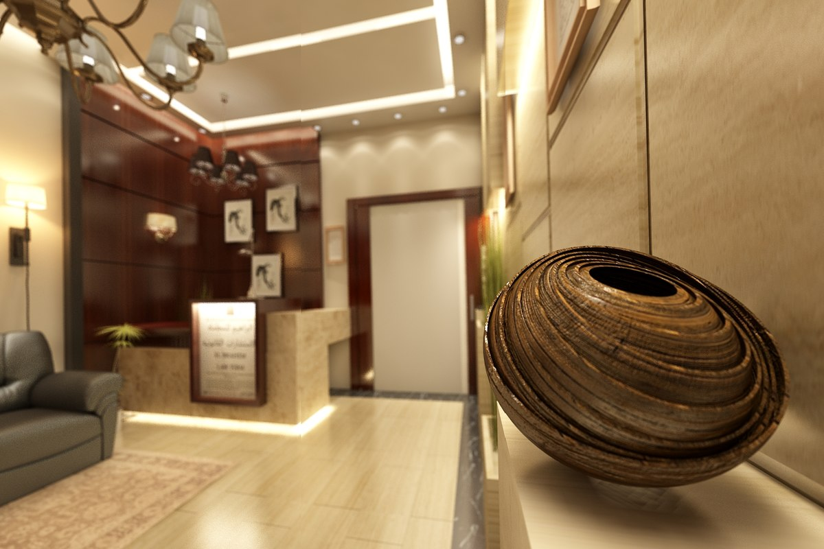 Interior office entrance 3d max for Office design 3d max