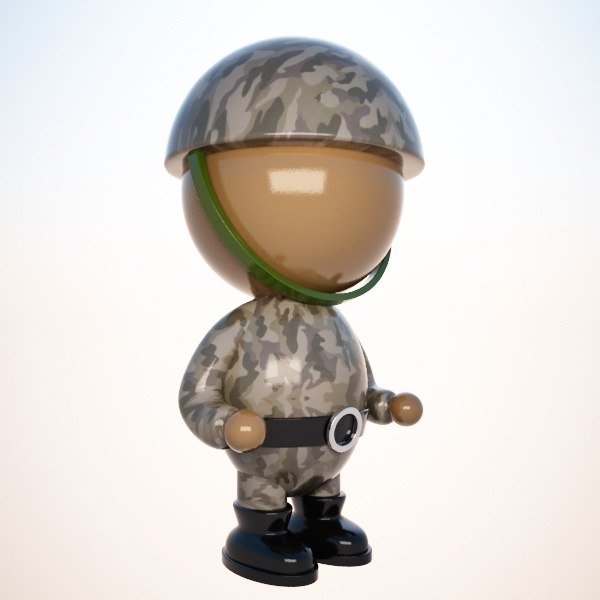 Cartoon Soldier Character