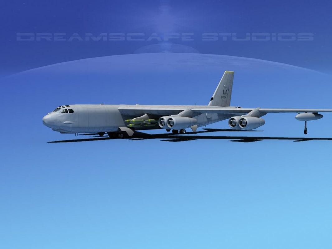 boeing b 52 stratofortress bomber 3d model