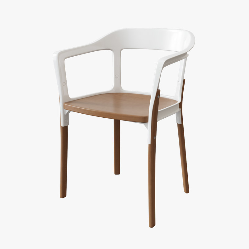 3d magis steelwood chair model for Magis steelwood