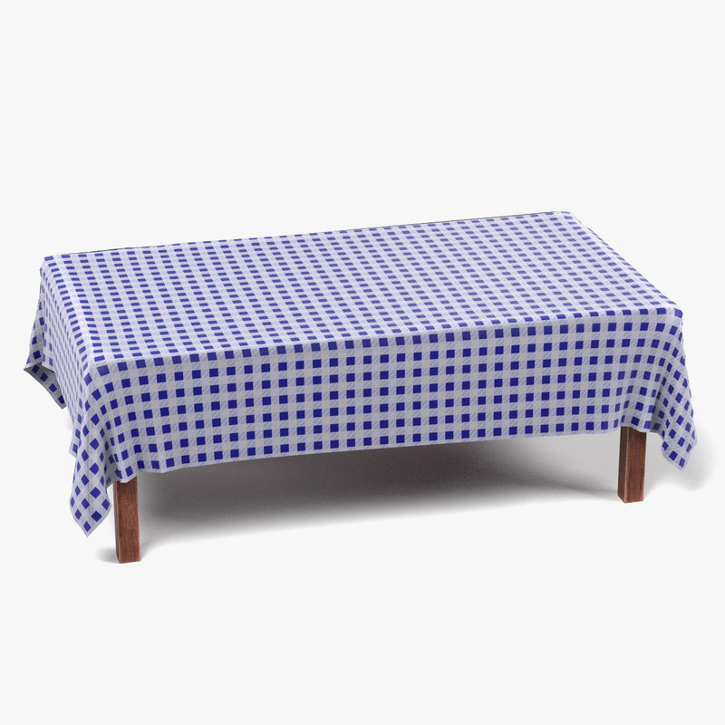 Table with Tablecloth Rectangular3