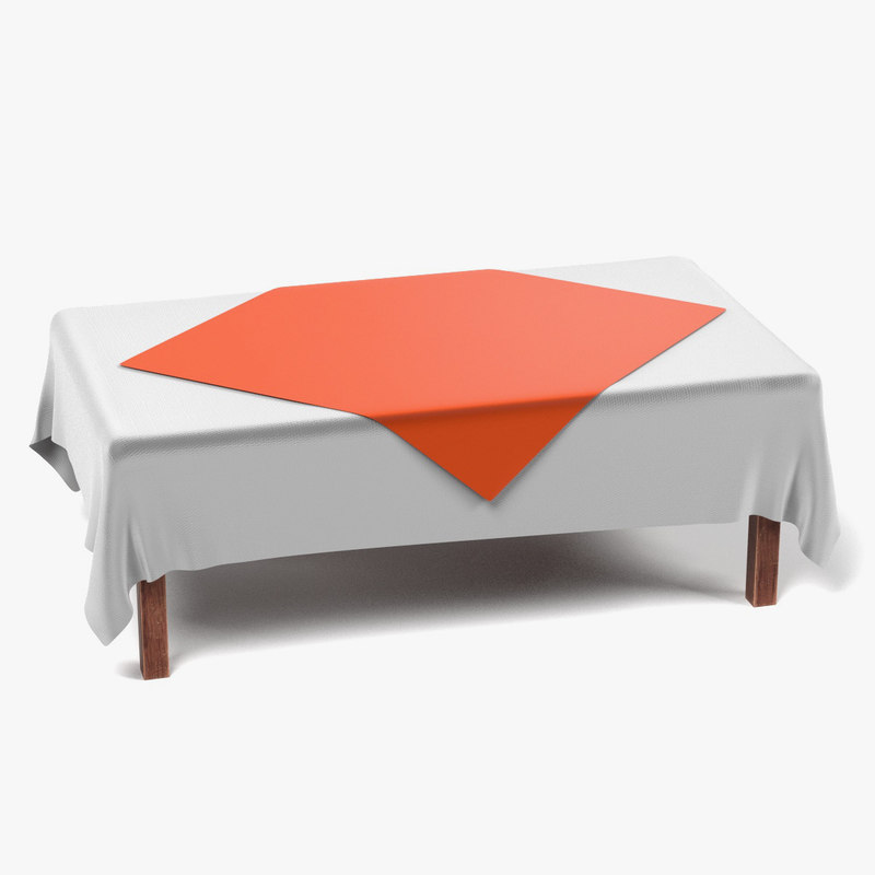 Table with Tablecloth Rectangular4