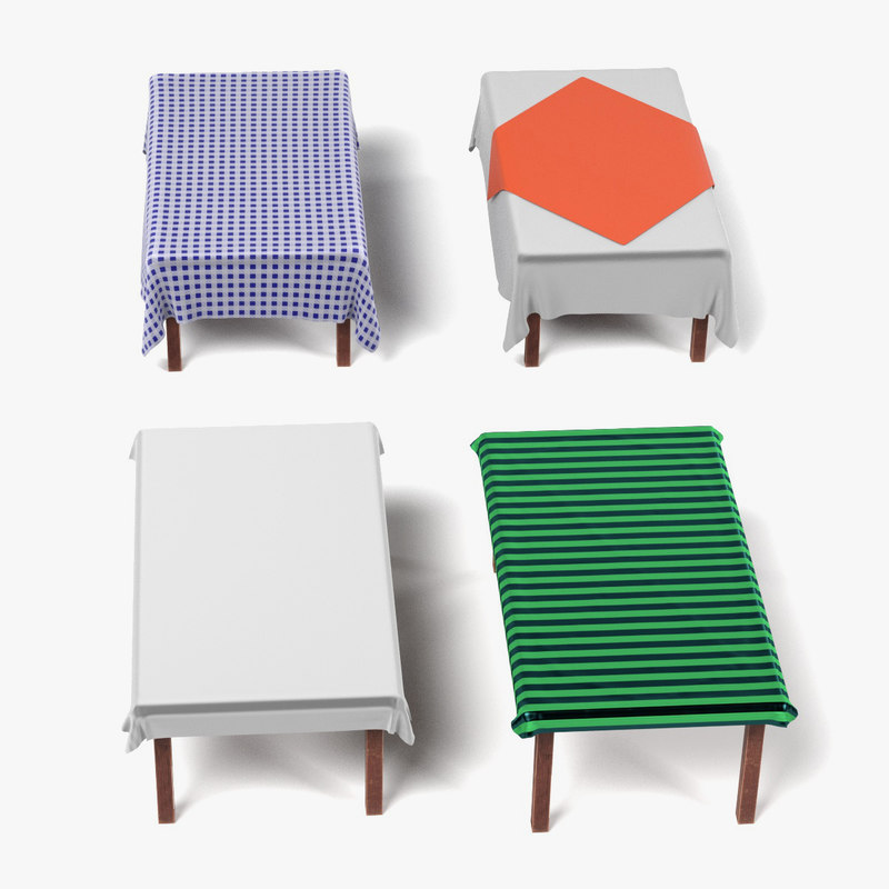 Table with Tableclothes Rectangulars