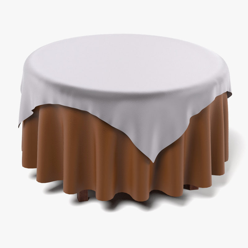 Table with Tablecloth Round3