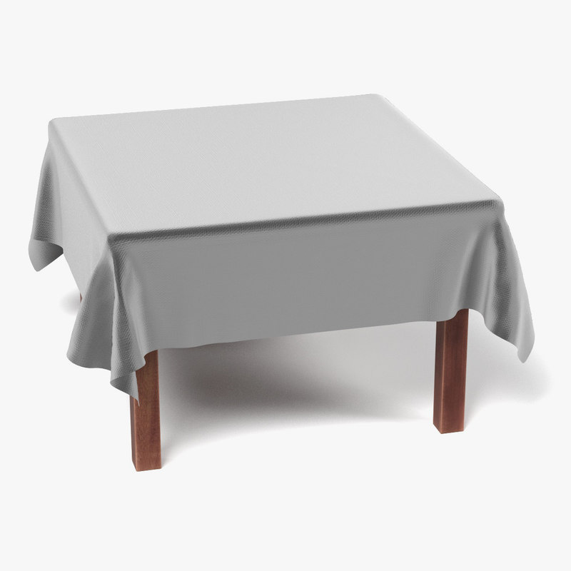 Table with Tablecloth Square3